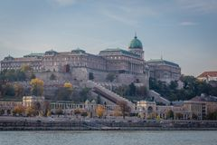 Hungary architecture, historic building in Budapest Royalty Free Stock Photography