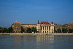 10.06.2019. Hungary, Budapest. Beautiful view since morning of the Danube river and the right coast of the city of Buda. 10.06.2019. Hungary, Budapest stock images