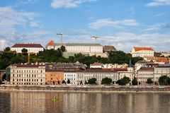 Buda Skyline in City of Budapest Royalty Free Stock Photos