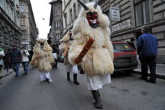 Hungary, Budapest - 13 02, 2009 Buso-walking is a yearly folk festival held in February in the town of Mohacs. Stock Photography