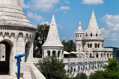 Hungary, budapest, fisherman's bastion. Stock Images