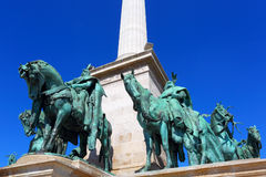 Hungary. Budapest.Heroes Square. Monument Of The Millennium Of Hungary. Royalty Free Stock Photos