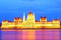 Hungary. Budapest. Night look. Parliament palace Stock Photo