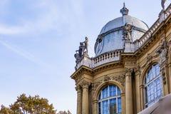 Hungary Budapest 2017: Vajdahunyad castle in Budapest autumn stock image