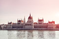 Hungary. Budapest. Parliament view. Europe travel. Stock Photos