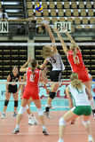 Hungary - Bulgaria volleyball game Stock Images