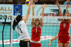 Hungary - Bulgaria volleyball game Stock Photography