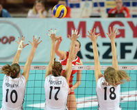 Hungary - Bulgaria Volleyball Game Royalty Free Stock Photos