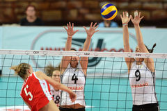 Hungary - Bulgaria volleyball game Royalty Free Stock Photo