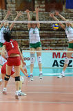Hungary - Bulgaria volleyball game Stock Photos