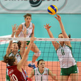 Hungary - Bulgaria volleyball game Royalty Free Stock Image