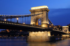 Hungary, Chain Bridge Stock Image