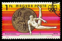 Gymnastics, 21st Summer Olympics, Montreal 1976 royalty free stock image