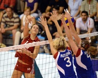 Hungary - Czech Republic volleyball game Royalty Free Stock Image