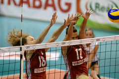 Hungary - Czech Republic volleyball game Stock Photography