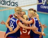Hungary - Czech Republic volleyball game Stock Photo