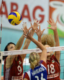 Hungary - Czech Republic volleyball game Stock Photo