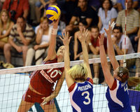 Hungary - Czech Republic volleyball game Royalty Free Stock Photo
