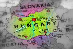 Hungary, East Europe. Black and white selective focus royalty free stock photos