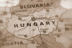 Hungary, East Europe. Sepia selective focus stock photos