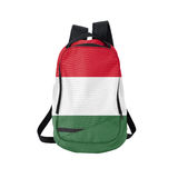 Hungary flag backpack isolated on white Royalty Free Stock Images