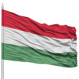 Hungary Flag on Flagpole Royalty Free Stock Photography