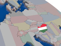 Hungary with flag Stock Photography