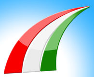 Hungary Flag Means Nationality Patriot And Country Stock Photo