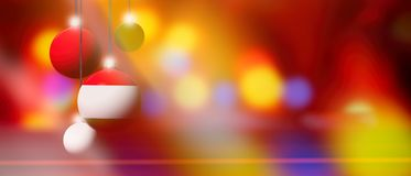 Hungary flag on Christmas ball with blurred and abstract background. Stock Photography