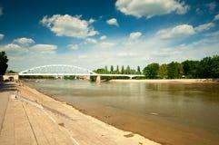 hungary flod tisza arkivbild
