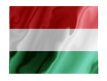 Hungary fluttering. Fluttering image of the Hungarian national flag Royalty Free Stock Photography