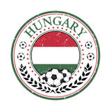 Hungary football label / sticker Royalty Free Stock Images