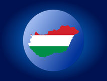 Hungary globe Stock Image