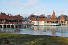 Hungary,Heviz lake. The famous Heviz thermal lake in Hungary in winter Stock Photography