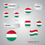 Hungary icon set of flags Stock Photo