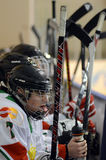 Hungary - Italy under 16 icehockey game Royalty Free Stock Photo