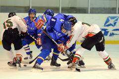 Hungary - Italy under 16 icehockey game Royalty Free Stock Photography