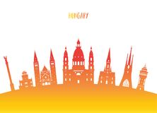 Free Hungary Landmark Global Travel And Journey Paper Background. Vector Design Template.used For Your Advertisement, Book, Banner, Te Royalty Free Stock Photos - 113338428