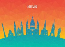 Hungary Landmark Global Travel And Journey paper background. Vec. Tor Design Template.used for your advertisement, book, banner, template, travel business or Stock Photo