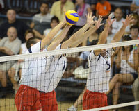 Hungary - Latvia volleyball game Stock Photo
