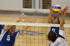 Hungary - Latvia volleyball game Royalty Free Stock Photography