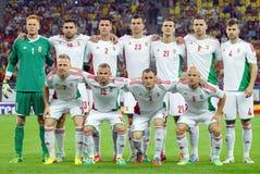 Hungary lineup in Romania-Hungary Stock Photos