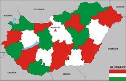 Hungary map Stock Photos