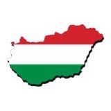 Hungary map flag Royalty Free Stock Image