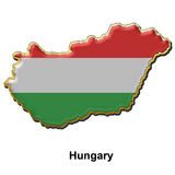 Hungary metal pin badge Royalty Free Stock Images