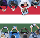 Hungary National Flag Government Freedom LIberty Concept Stock Photography