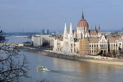 hungary parlament Royaltyfria Foton
