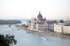 Hungary Parliament, Budapest - panoramic view Stock Image