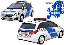 Hungary Police Car Royalty Free Stock Photo