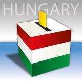 Hungary, political elections, ballot box with flag Stock Image